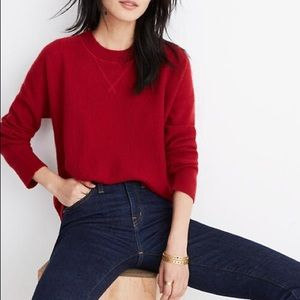 Red Madewell cashmere sweatshirt